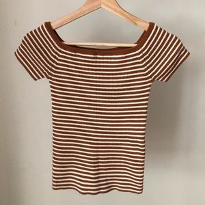 Madewell Striped Off-the-Shoulder top